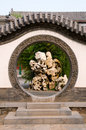 Circle entrance of Chinese garden Stock Image