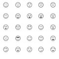 Circle face icons with reflect on white background stock vector Royalty Free Stock Images