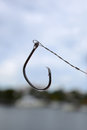 Circle fish hook a for a angling Stock Image
