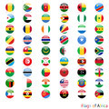 Circle of the flag africa on white background Royalty Free Stock Images