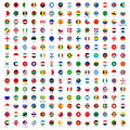 Circle Flags of the World Royalty Free Stock Photo