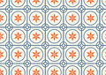 Circle and Flower Pattern on Pastel Color Royalty Free Stock Photo
