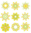 Circle flower. Vector illustration Royalty Free Stock Photos