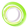 Circle frame made of green rings isolated Stock Image