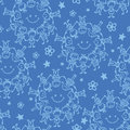 Circle of friends seamless pattern background