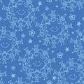 Circle of friends seamless pattern background