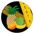 Circle fruit diet icon Stock Image