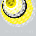 Circle geometry pattern with line mash.