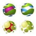 Circle globe logo icons