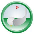 Circle golf Royalty Free Stock Photos