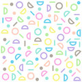 Circle, half-circle line pattern colorful pastel Royalty Free Stock Photo
