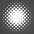 Circle halftone element, monochrome abstract graphic for DTP, pr