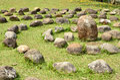Circle heap of rocks Royalty Free Stock Photo