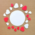 Circle hearts border Royalty Free Stock Photo