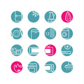 Circle household icons Royalty Free Stock Photography