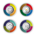 Circle icon object business button Stock Image