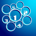 Circle info graphic presentation in blue background Stock Image