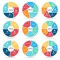 Circle infographic (part four, part Five and part six) vector set design