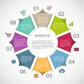 Circle infographic template with icons Royalty Free Stock Photos