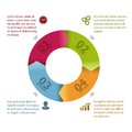 Circle infographic template modern design Royalty Free Stock Images