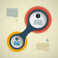 Circle infographics background web design layout retro Royalty Free Stock Image