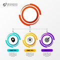 Circle infographics. Template for diagram. Vector illustration