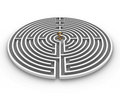 Circle labyrinth dollar Royalty Free Stock Photo