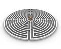 Circle labyrinth dollar Royalty Free Stock Photo