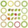 Circle of Leaf + leaf Collection