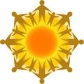Kruh z život slunce / obdélník ohraničující tisknutelnou oblast