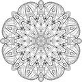 Circle mandala adult coloring page