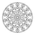 Circle mandala coloring book for adults vector