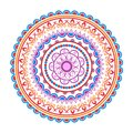 Circle mandala pattern. Decorative round ornament. Yoga logo, background for meditation poster. Royalty Free Stock Photo