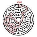 Circle Maze Vector