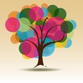 Circle Multicolored tree for Business card  Royalty Free Stock Image