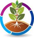 Circle nature leaf logo Royalty Free Stock Photo