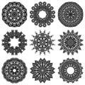 Circle ornament set, ornamental round lace