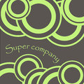 Circle ornament super company two color illustration Royalty Free Stock Photo