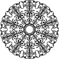 Circle ornament vector illustration of pattern Royalty Free Stock Photos