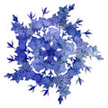 Circle pattern with bellflowers. Round kaleidoscope of flowers and floral elements Royalty Free Stock Photo