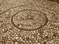 Circle Pattern Cobblestone Path of Mostar Old Town Royalty Free Stock Photo