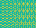 Circle pattern repeating with yellow circles on green background Royalty Free Stock Image