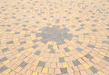 Circle pattern of stone paving Royalty Free Stock Photo