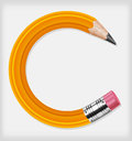 Circle pencil Royalty Free Stock Photography