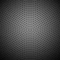Circle Perforated Carbon Speaker Grill Texture Stock Image