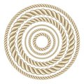 Circle ropes rope illustration this is file of eps format Royalty Free Stock Photography