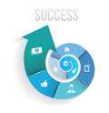 Circle rotate with icons template to success Royalty Free Stock Photo