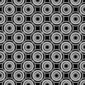 CIRCLE SEAMLESS BLACK AND WHITE Stock Images