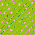 Circle seamless pattern on green background Royalty Free Stock Photo