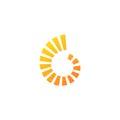 Circle shape loop technology logo
